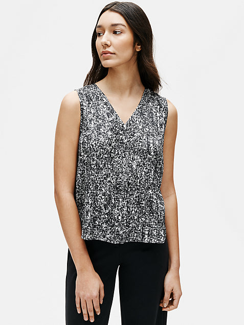 Prism Print Sleeveless V Neck Top-EILEEN FISHER-Over the Rainbow