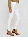 The Farrah High Waist Skinny Ankle Jean - White-AG Jeans-Over the Rainbow