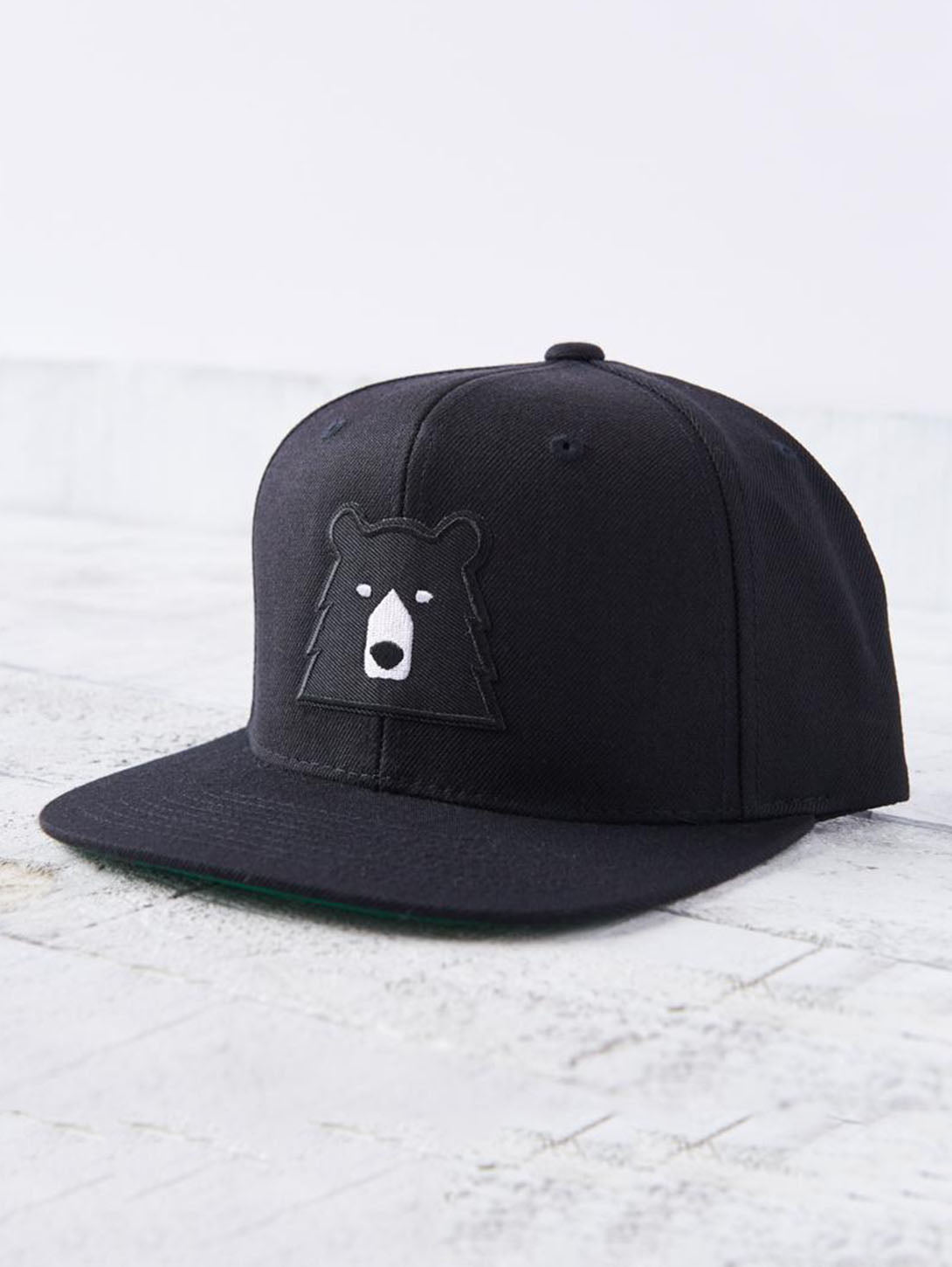 Snapback Bear Hat - Black/Black-North Standard Trading Post-Over the Rainbow
