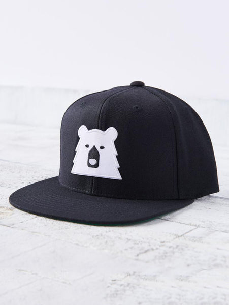 Snapback Bear Hat - Black/White-North Standard Trading Post-Over the Rainbow