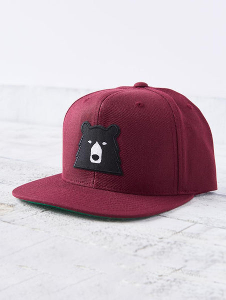 Snapback Bear Hat - Maroon-North Standard Trading Post-Over the Rainbow