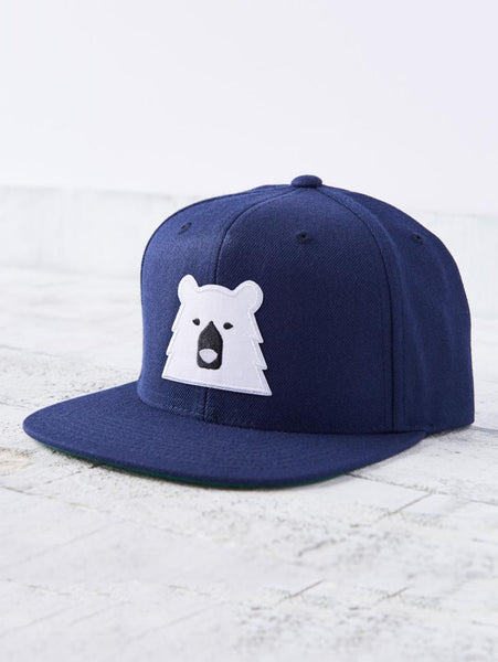 Snapback Bear Hat - Navy/White-North Standard Trading Post-Over the Rainbow