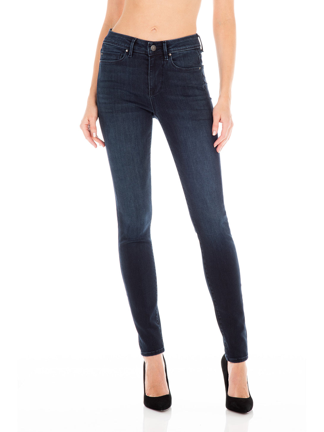 Sola Stacked Mid Rise Skinny Jean - Madrid-Fidelity Denim-Over the Rainbow