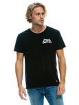 Keep on Surfin T-Shirt - Black-AVIATOR NATION-Over the Rainbow