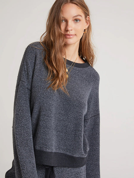 Fleece Crew Neck Pullover Sweatshirt-Bella Dahl-Over the Rainbow