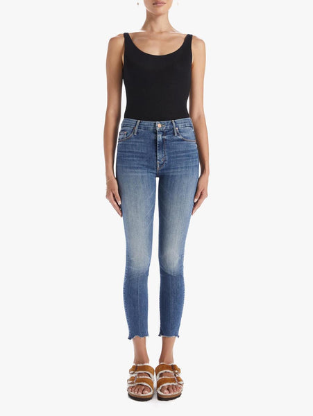 Looker High Waisted Ankle Fray Skinny Jean - Walking On Coals-Mother-Over the Rainbow