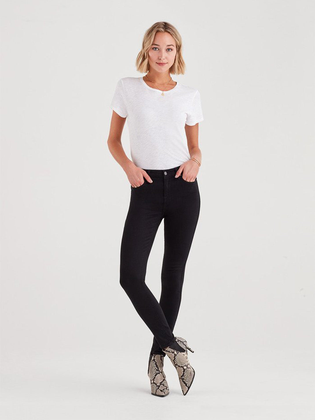 B(Air) Denim High Rise Skinny Jean - Black-Seven for all Mankind-Over the Rainbow
