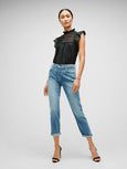Josefina Luxe Vintage Girlfriend Jean - Bright Light Broken Twill-Seven for all Mankind-Over the Rainbow