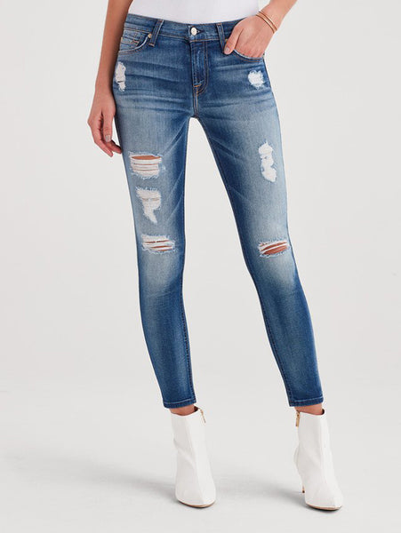 B(air) Denim Mid-Rise Skinny Jean - Distressed Light-Seven for all Mankind-Over the Rainbow