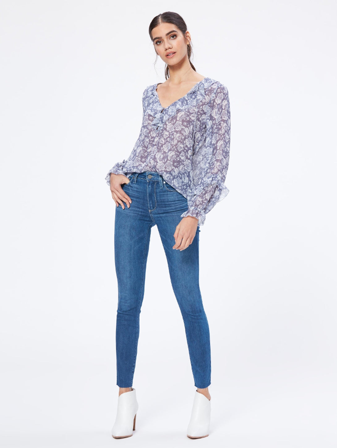 Hoxton Ankle Raw Hem Skinny Jean - Alyeska-Paige-Over the Rainbow