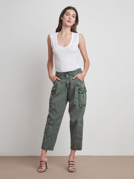 Bev Cargo Pant-Velvet-Over the Rainbow