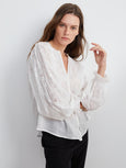 Gala Cotton Embroidery Long Sleeve Top-Velvet-Over the Rainbow
