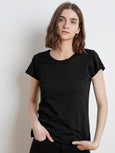 Odelia Crew Neck T-Shirt-Velvet-Over the Rainbow