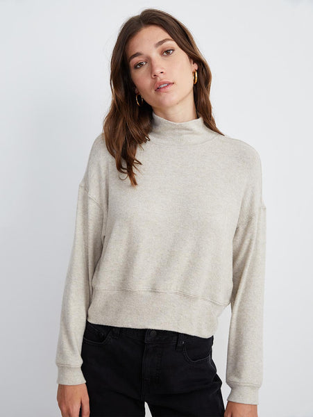 Tami Turtleneck Long Sleeve Top-Velvet-Over the Rainbow