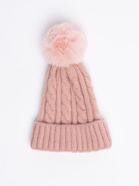 Acrylic Beanie - Pink-STYLED BY SARVI-Over the Rainbow