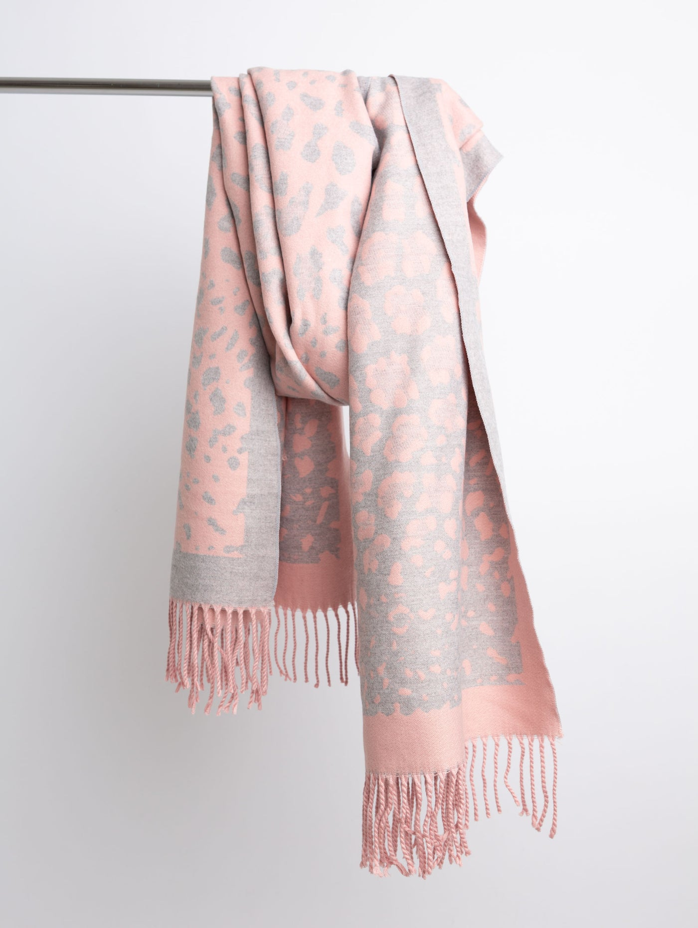 Acrylic Winter Scarf - Pink-STYLED BY SARVI-Over the Rainbow