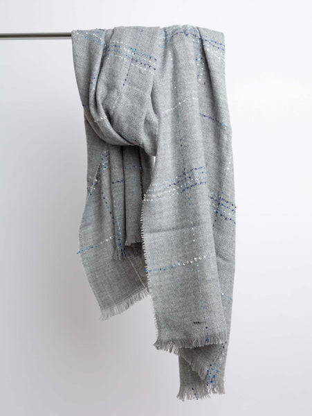 Acrylic Winter Scarf - Grey Mix-STYLED BY SARVI-Over the Rainbow