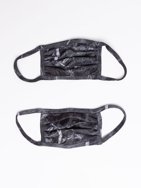 Adult 2-Pack Face Mask - Black Marble-MVFA-Over the Rainbow