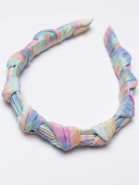 Tie Dye Knots Headband-STYLED BY SARVI-Over the Rainbow