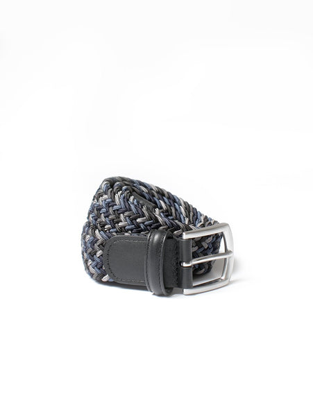 Stretch Woven Belt - Grey Multi-Anderson's-Over the Rainbow