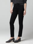 Harlow Ankle Mid Rise Slim Jean - Plush Black-Citizens of Humanity-Over the Rainbow