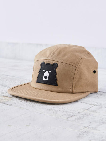 5 Panel Bear Hat - Khaki-North Standard Trading Post-Over the Rainbow