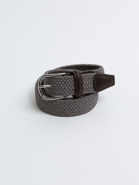 Stretch Woven Belt - Grey-Anderson's-Over the Rainbow