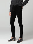 Olivia Long High Rise Slim Jean - Sueded Black-Citizens of Humanity-Over the Rainbow