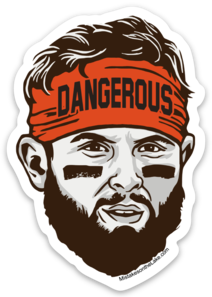 Dangerous Baker Face Sticker