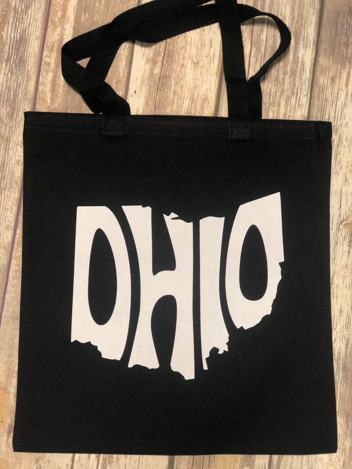 State of Ohio Black Tote - Mistakes on the Lake