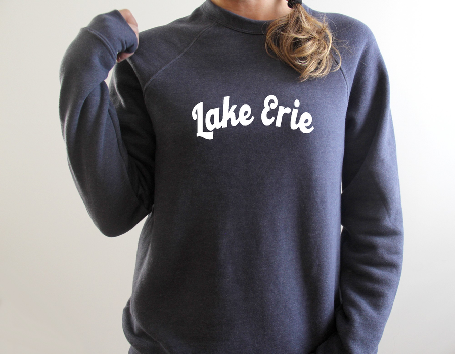 Lake Erie Crew Neck Raglan Sweatshirt - Mistakes on the Lake