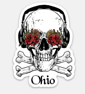 Skull Ohio Sticker - Mistakes on the Lake