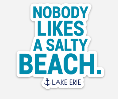 Nobody Likes a Salty Beach Lake Erie Sticker - Mistakes on the Lake
