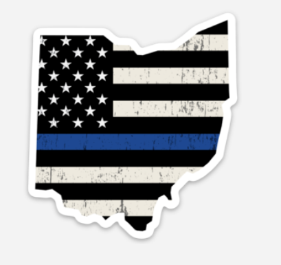 Ohio Police - Blue Line Sticker - Mistakes on the Lake