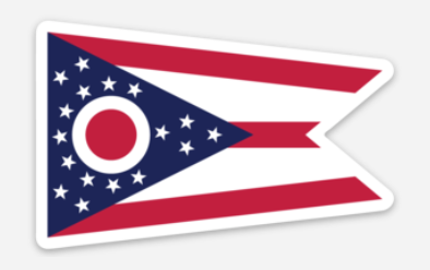 Ohio State Flag Sticker - Mistakes on the Lake