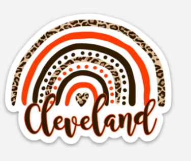 Cleveland Rainbow Sticker - Mistakes on the Lake