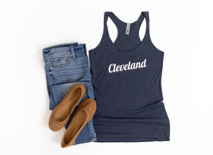Vintage Cleveland Tanks - Red, white & blue - Mistakes on the Lake