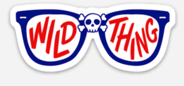 Wild Thing Glasses Sticker - Mistakes on the Lake