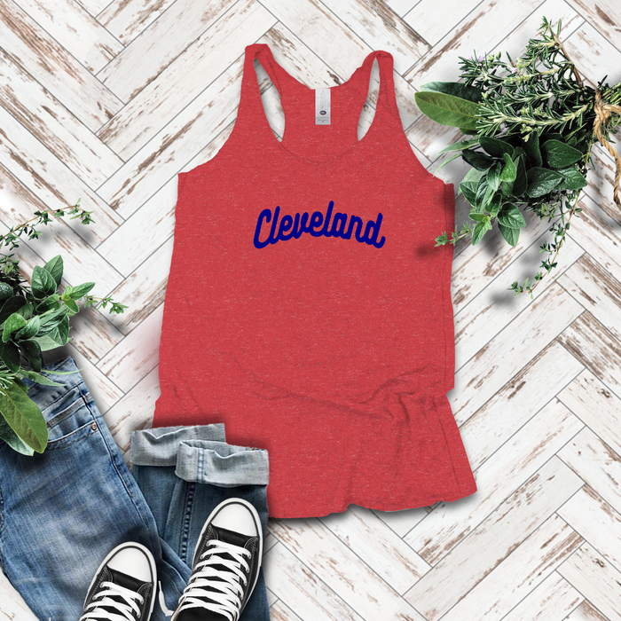 Classic Cleveland Tank - Red & Navy - Mistakes on the Lake