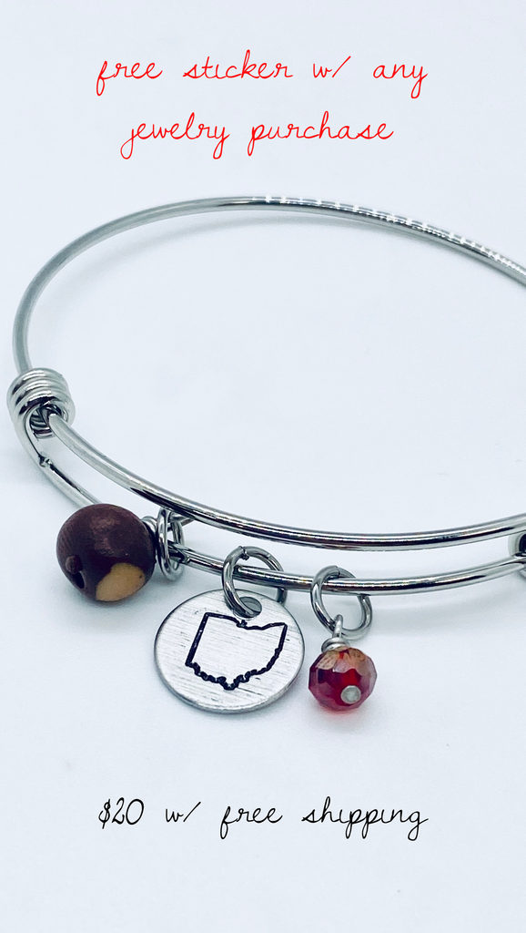 Ohio Buckeye bracelet - Mistakes on the Lake
