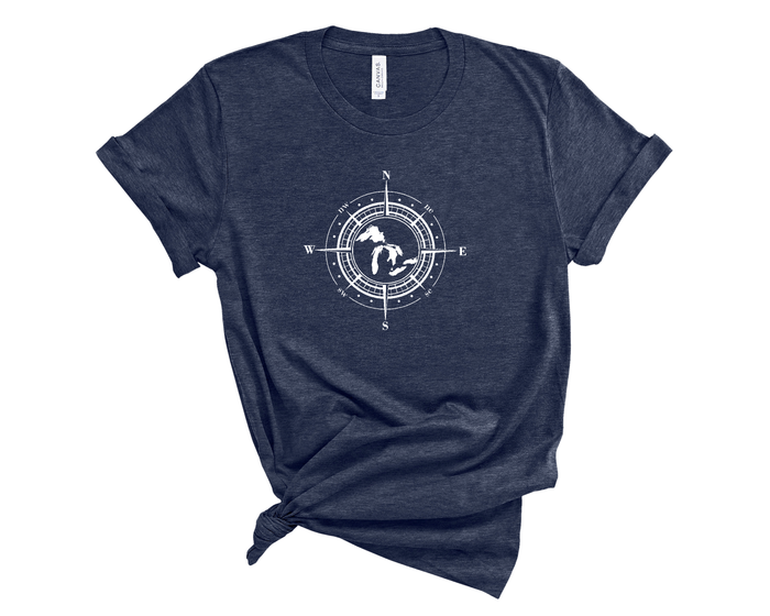 Great Lakes Compass Tee - Mistakes on the Lake
