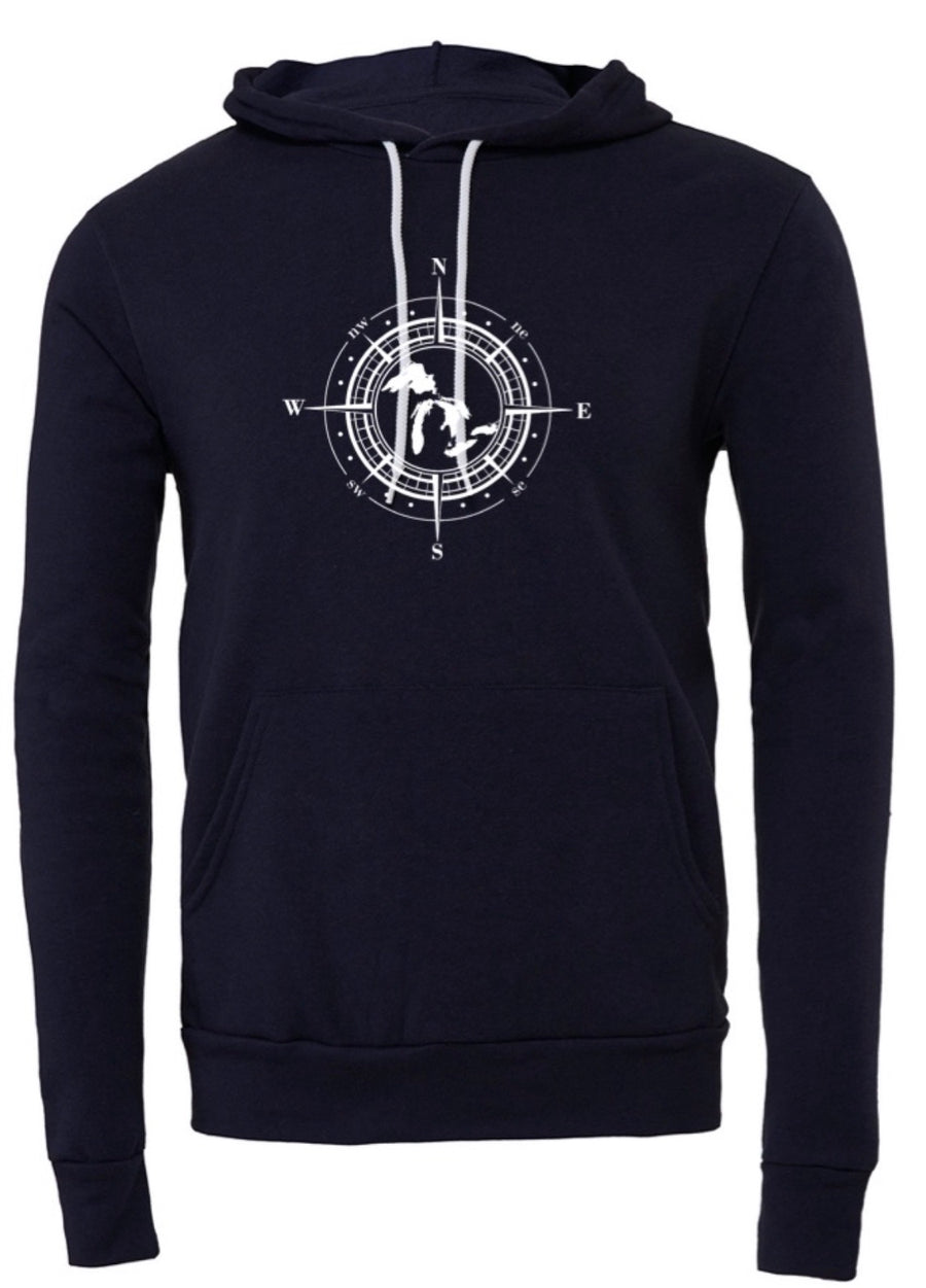 Great Lakes Compass Hoodie - Mistakes on the Lake