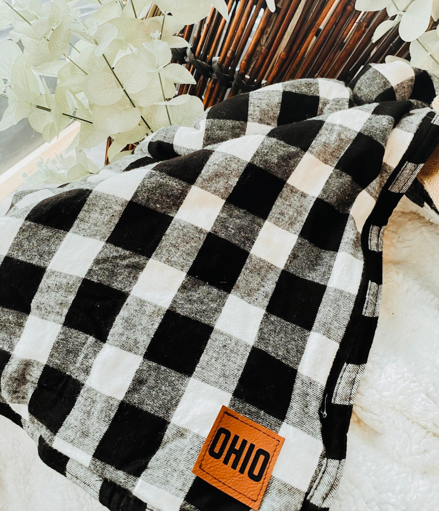Exclusive Ohio Buffalo Plaid Blanket - Mistakes on the Lake