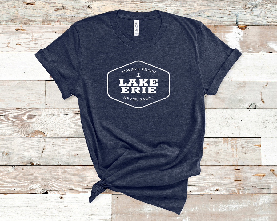 Lake Erie Always Fresh Never Salty Tee - Mistakes on the Lake