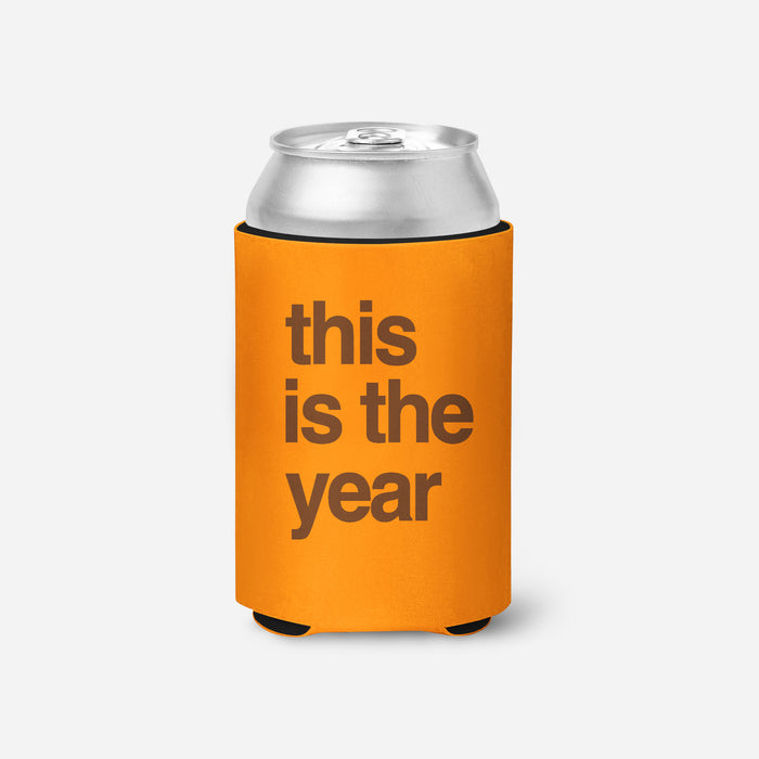 This is the Year Koozie - Orange - Mistakes on the Lake