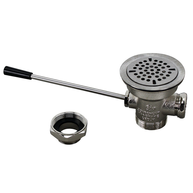 "WASTE DRAIN - 3-1/2""SINK OPENING, LEVER 100-1012"