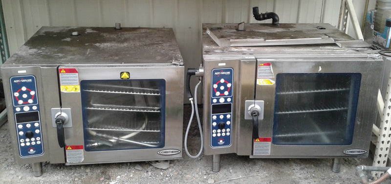 Used Alto Shaam 7.14 ESi Double Combitherm Steamer Convection Oven Set