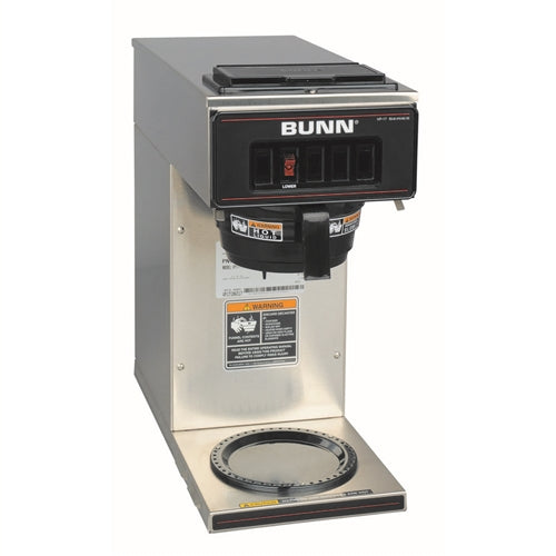 Bunn Stainless Steel Pourover Coffee Brewer with One Lower Warmer VP17-1, 120V.  13300-0001