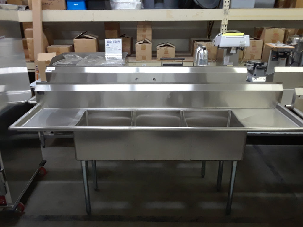 Elkay 3 Compartment Sink w/ 2 Drain boards