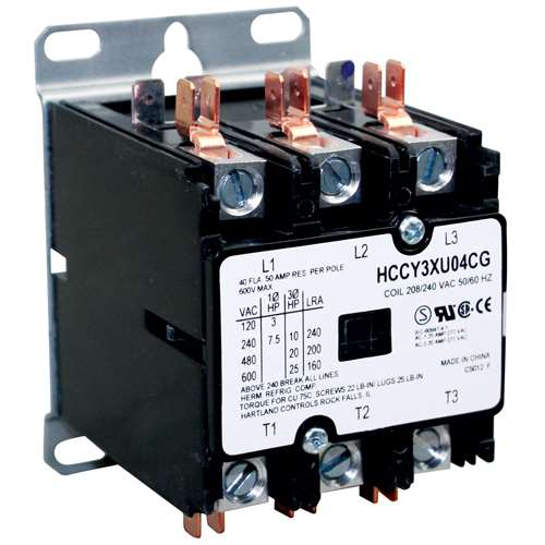 Contactor 3P 40/50A 208/240V For Market Forge 10-5943